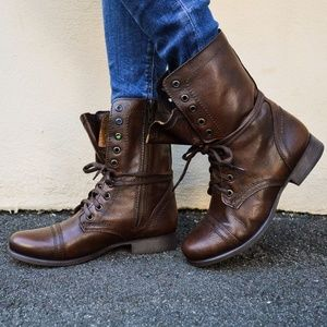 Steve Madden Troopa Brown Leather boots